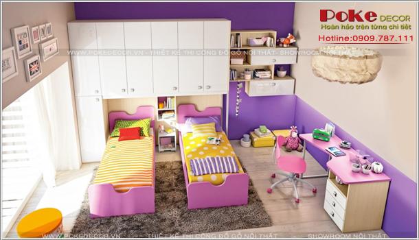 Thiết kế nội thất phòng ngủ giành cho các bé