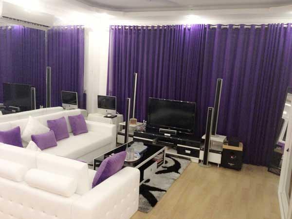 Ngôi nhà sẽ trở lên lãng mạn hơn với nội thất màu tím