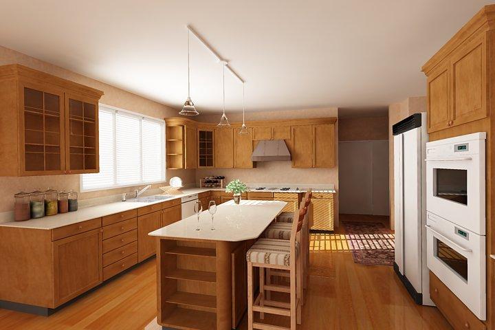 Tủ bếp gỗ tiện lợi