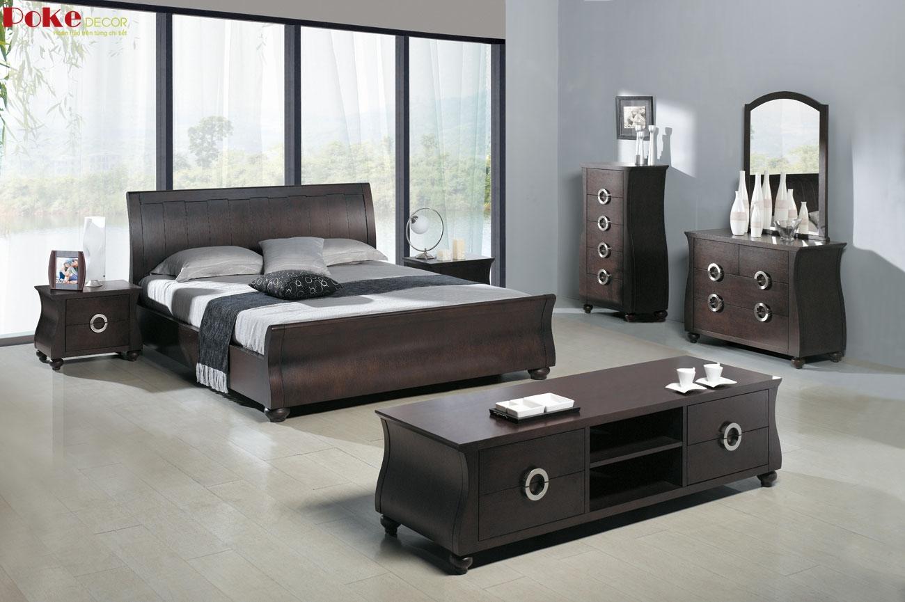 Giường gỗ sang trọng