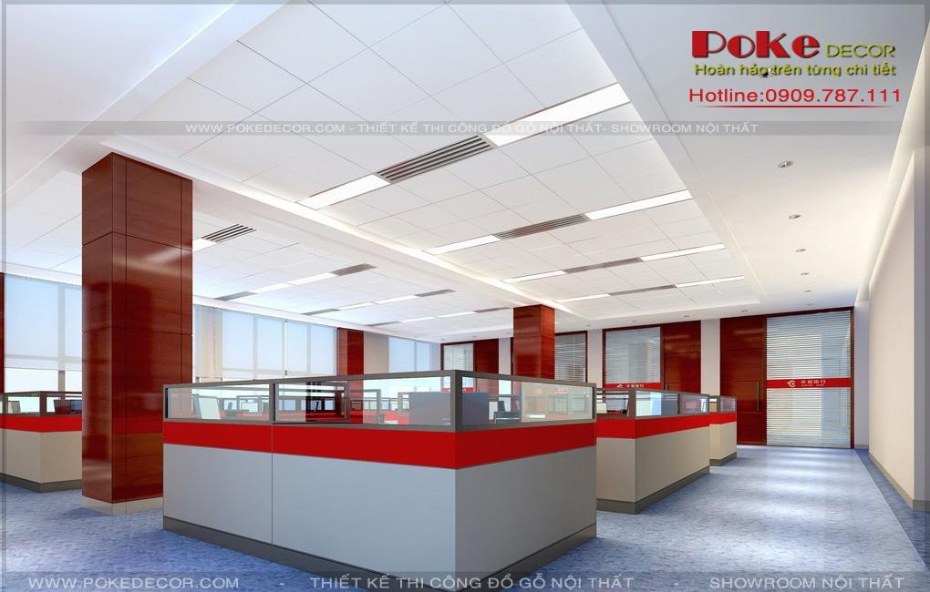 Thiết kế nội thất văn phòng sinh động