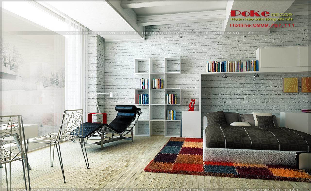 Thiết kế nội thất phòng ngủ theo phong cách hiện đại