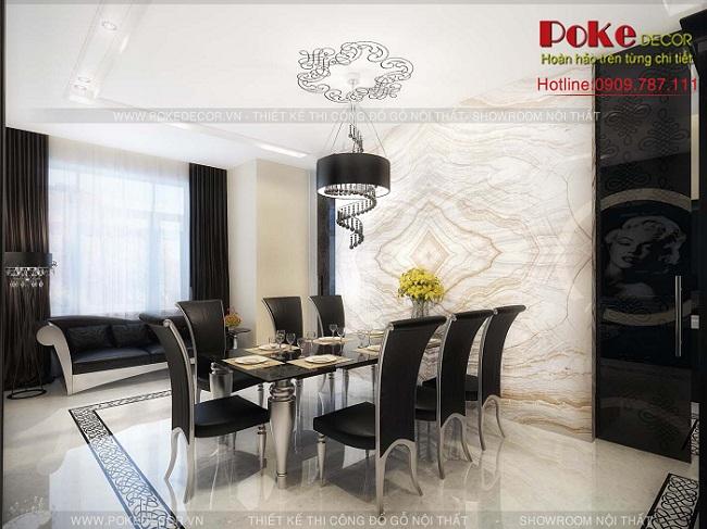 Thiết kế nội thất phòng ăn theo phong cách hiện đại