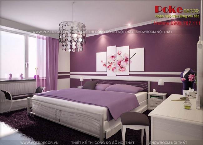 thiết kế nội thất phòng ngủ lãng mạn