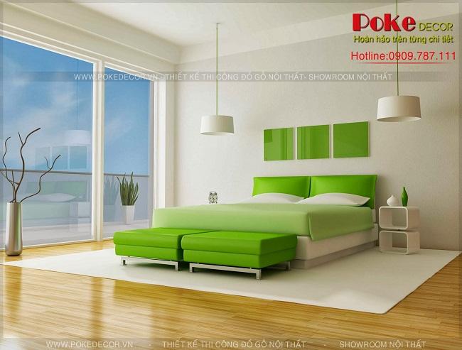 Trang trí phòng ngủ xanh lá cực độc