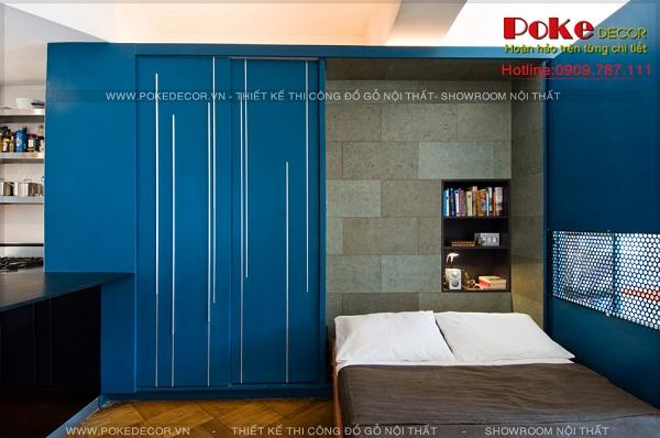 Biệt thự nhỏ hiện đại với nội thất màu xanh đầy hi vọng