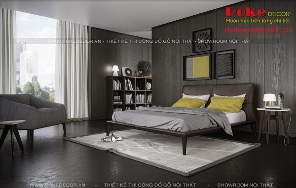 Phòng ngủ gỗ đen sang trọng