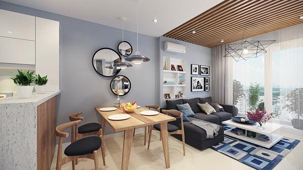 Thiết kế thi công nội thất nhà chung cư đẹp