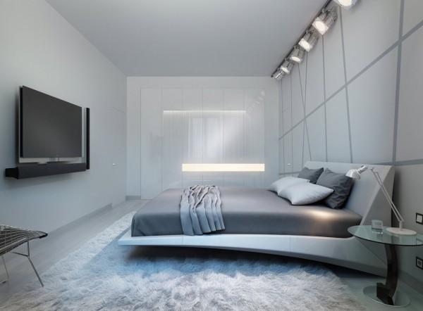 Nội thất phòng ngủ với hệ thống ánh sáng ấn tượng