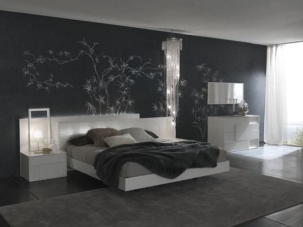 Nội thất phòng ngủ màu đen sang trọng