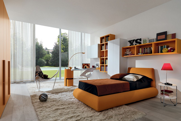 Thiết kế nội thất phòng ngủ hiện đại trẻ trung
