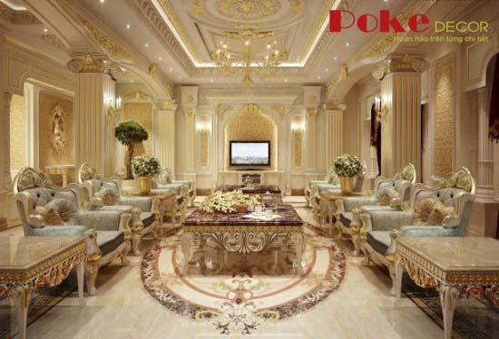 Những mẫu thiết kế phòng khách mang đậm chất quý tộc