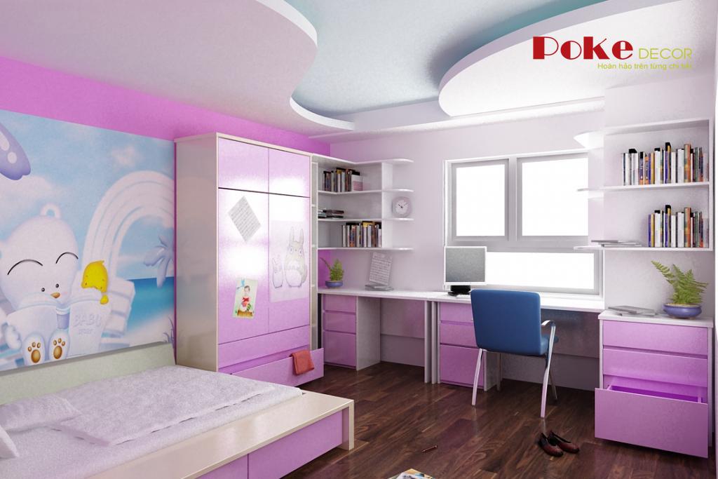 Thiết kế nội thất phòng trẻ đầy màu sắc