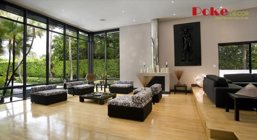 Thiết kế nội thất phòng khách biệt thự siêu sang