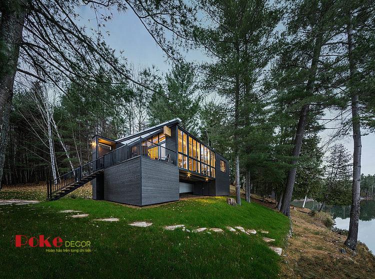 Nội thất hiện đại của ngôi nhà bên bờ hồ
