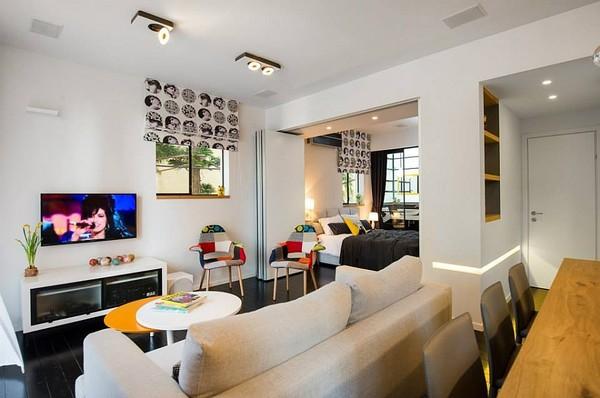 Nội thất căn hộ đầy màu sắc