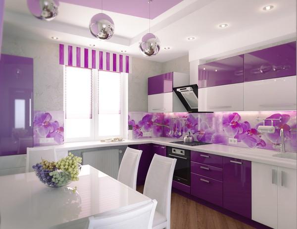 Những gian bếp màu tím đẹp ngoài sức tưởng tượng