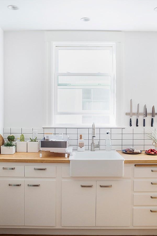 Thiết kế nội thất đẹp lung linh với tường màu trắng