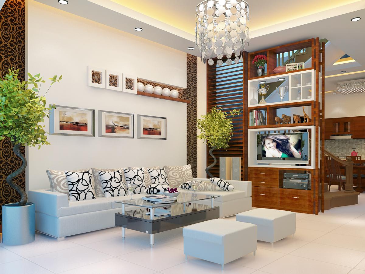Nội thất phòng khách hiện đại đầy ấn tượng