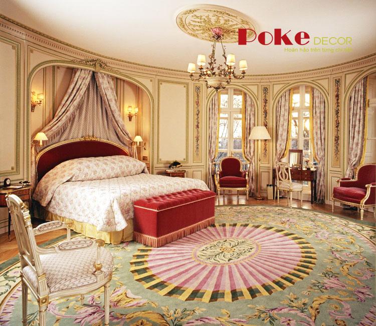 Nội thất phòng ngủ đầy quyến rũ với phong cách hoàng gia