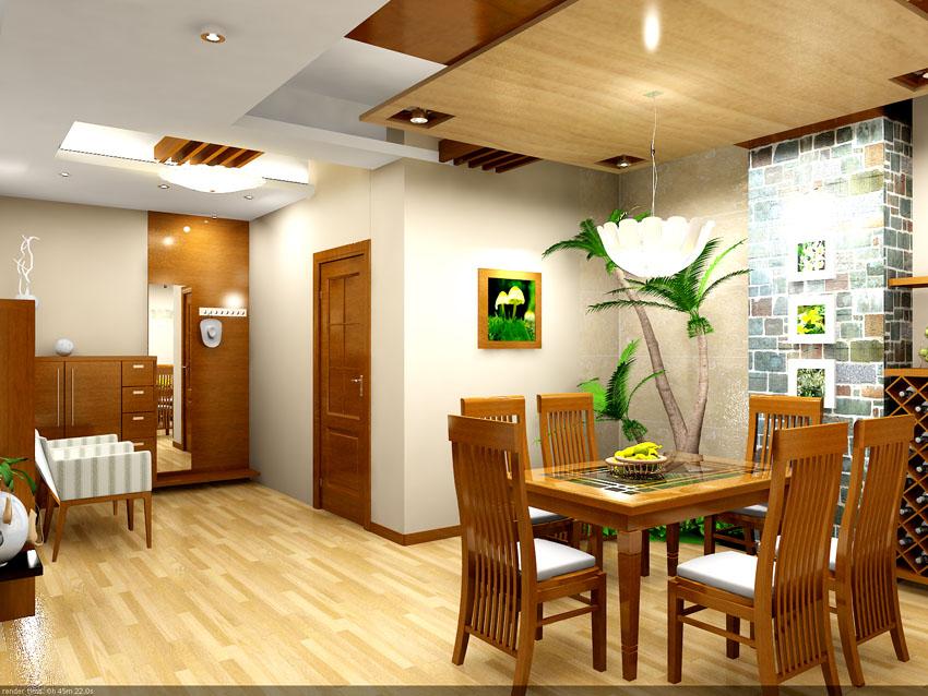 Thiết kế nội thất phòng ăn hiện đại và ấm cúng