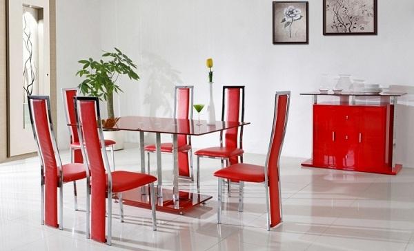 Mang sắc đỏ vào không gian phòng ăn nhà bạn