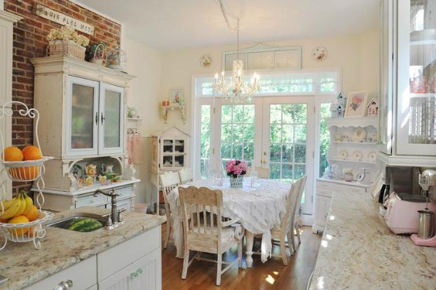 Đẹp xinh và lãng mạn với phòng bếp mang phong cách Vintage
