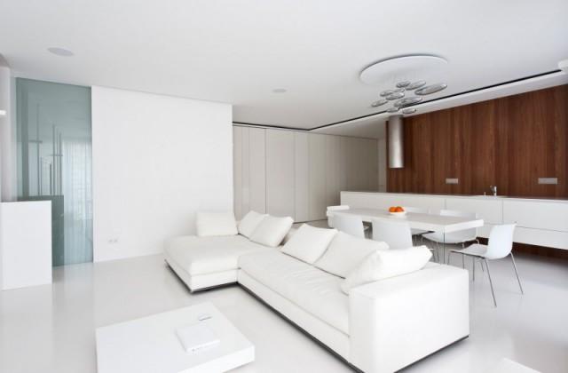 Sử dụng gam màu trắng khi thiết kế nội thất nhà ở